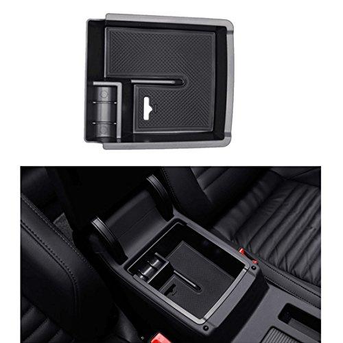 LITTOU Auto Mittelkonsole Armlehne Aufbewahrungsbox Handschuh Box Einsatz Organizer Tablett Zubehör