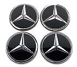 Set di 4 stemma adesivi 60mm per tappi cerchi ruote copriruote copricerchi coprimozzi cerchioni MercedesBenz