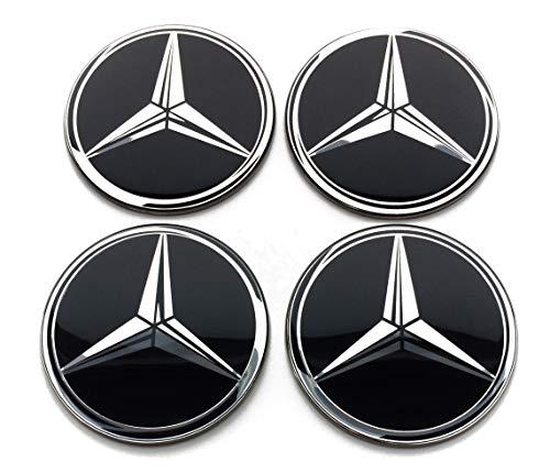 4 Rad mitte kappen aufkleber 60 mm MercedesBenz embleme gewölbt logo selbstklebendes radkappen felgenkappen