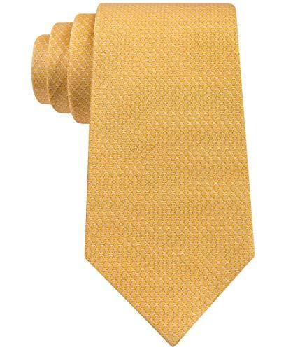 Michael Michael Kors - Corbata clásica para hombre, diseño geométrico, color amarillo