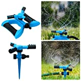 ESTUSR 2 Pack Sprinklers for Yard, Irrigation System Kids Sprinkler 360 Degree...