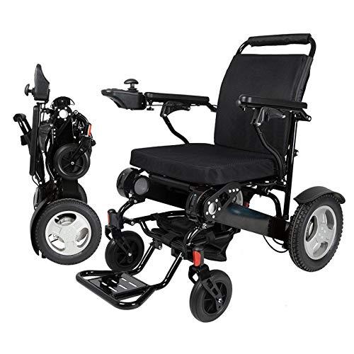 Rolstoelen, grote capaciteit 180 kg, aluminiumlegering, opvouwbaar, draagbare elektrische rolstoel, 2 stuks zwart
