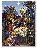 Tres Reyes Magos Belén familia 25,4cm Advent Calendario de Navidad temporada