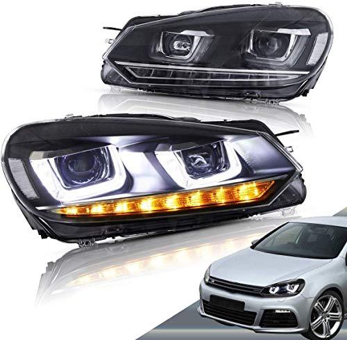 VLAND LED scheinwerfer für Golf 6 MK6 VI GTD TSI TDI 2008-2013 frontscheinwerfer mit sequentieller Blinker LHD