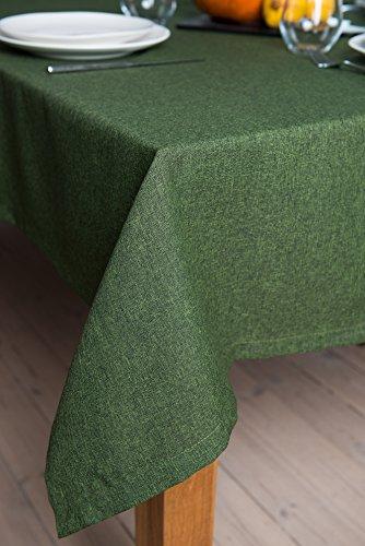 Rollmayer abwaschbar Tischdecke Wasserabweisend/Lotuseffekt (Melange Grün 333, 150x200cm) Leinenoptik Tischtuch mit pflegeleicht Fleckschutz, Rechteckig, Farbe & Größe wählbar