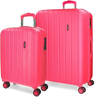 MOVOM Women's Set of 2 suitcases, Fuchsia, 65 centimeters