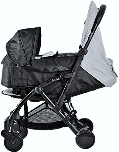 Pack Duo Nacelle Trinity 2 kinderwagen, ultralicht, 5,5 kg, ultracompact, transporttas, vliegtuig, licht, 2 kg, inklapbaar, 0/9 kg (grijs)