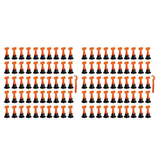MagiDeal Dispositivo de Aplanamiento de 100 Piezas Sistemas Niveladores Baldosas de Pavimentación Resistencia Al Desgaste Duradera de Usar