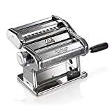 Marcato 8320 Atlas 150 Pasta Machine, Made in Italy, Includes Cutter, Hand Crank, and Instructions, Silver