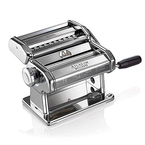 Marcato 8320 Atlas 150 Machine, Made in Italy, Includes Pasta Cutter, Hand Crank, and Instructions,...
