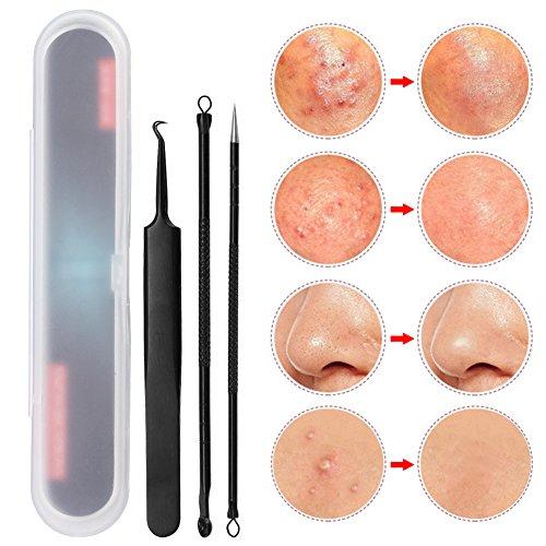 Blackhead Remover Kit Extraction de l'acné Pimple Comedone Extractor Tool Set avec double tête en acier inoxydable pour 3pcs/boîte de défaut