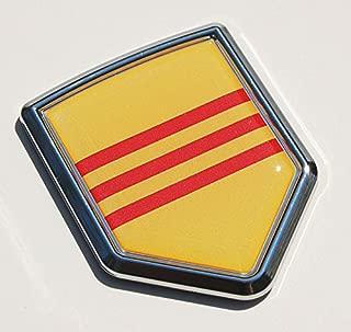 Vietnam Flag Decal Car Chrome Emblem Sticker