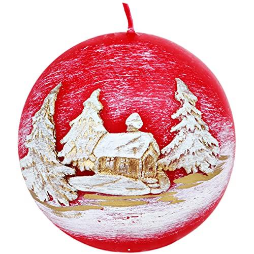 holzalbum Candela regalo a forma di sfera, candela 3D, diametro 8, decorazione natalizia