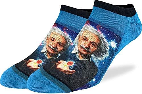 Good Luck Sock Herren Albert Einstein Knöchelsocken, Blau, Größe 40-47