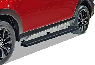APS iBoard Running Boards 5 inches Matte Black Custom Fit 2016-2018 Toyota Rav4 (Exclude 2018 Adventure Trim) (Nerf Bars Side Steps Side Bars)