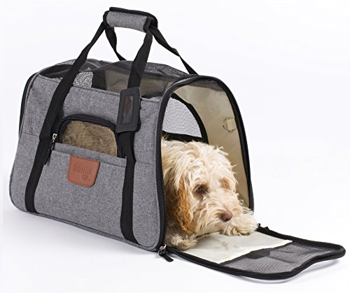 Hartann - Transportín para perros, gatos, cachorros o conejos, ligero, de lujo,...