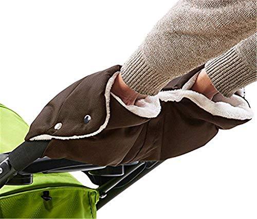 Kinderwagen Muff Handwärmer Wasserdicht Baby Stroller Hand muff Mit Fleece Winddicht Radanhänger für Winter (raun)