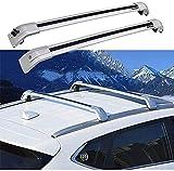 2 piezas Barra de techo Aluminio para Suzuki Vitara 2015-2020   Barras transversales para portaequipajes de techo   Soporte para techo de bicicleta para Exterior Deportes y Viaje