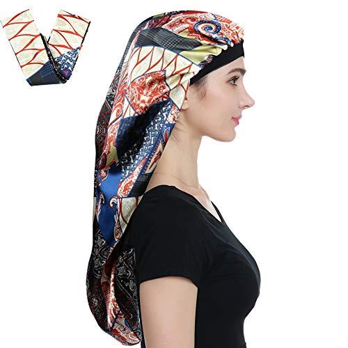 Alnorm Extra Large Satin Bonnet Sleep Cap– Double Layer, Premium Elastic Band