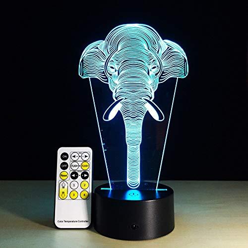 Elefant Baby Spielzeug Urlaub oder Nachtlicht 3D LED Tischlampe Kinder Geburtstagsgeschenk Nachtzimmer Dekoration