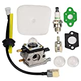 OuyFilters C1U-K54A Carburetor with Air Filter Gasket Fuel Repower Kit for Echo 2 Cycle Mantis 7222 7222E...