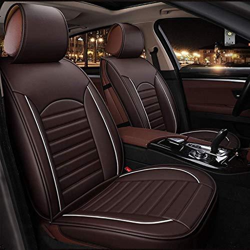 KBZW Kinderzitje auto voorkant cover achter 5 volledige set universeel leer seizoensbescherming airbag compatibele stoelen waterdicht