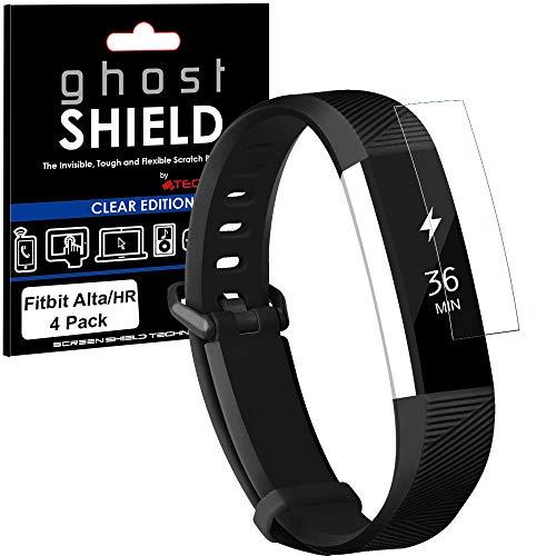 TECHGEAR [4 Pack] Protection Écran pour Fitbit Alta HR [ghostSHIELD] Film de Protection Souple en TPU avec Protection Totale de l'Écran Compatible pour Bracelet de Remise en Forme Fitbit Alta HR