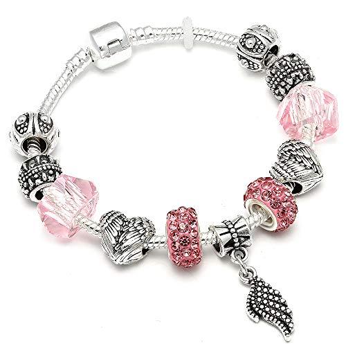 8 Colors Feather Pendant Charm Bracelets For Women Fit Bracelet Bangle Jewelry 1 18cm