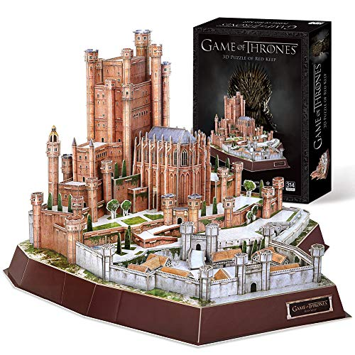 CubicFun Game of Thrones 3D Gebäude Puzzle Modellbausätze Das Red Keep Model Kit Geschenk (GOT) für Erwachsene und Kinder ab 8 Jahren, Song of Ice and Fire 314 Stück