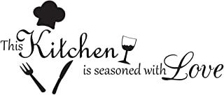 This Kitchen is Seasoned with Love Vinyl Wall Decal Quotes Wall Stickers Kitchen Decals..