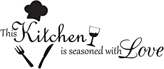 This Kitchen is Seasoned with Love Vinyl Wall Decal Quotes Wall Stickers Kitchen Decals Home Decor Decals
