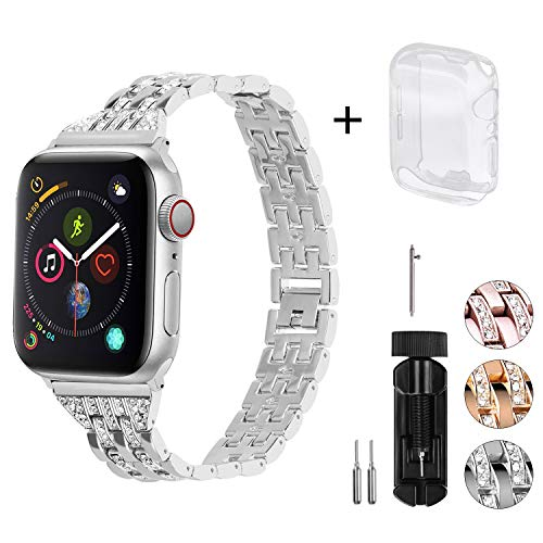 Fullmosa 3 Colores Metalica Apple Watch Correa 38mm 40mm 42mm 44mm Compatible con Apple Watch Series…
