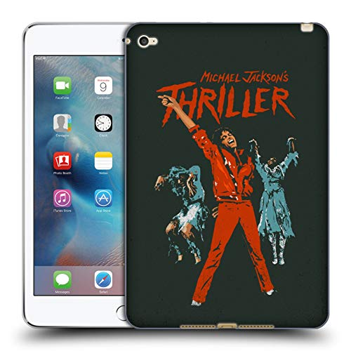 Head Case Designs Officially Licensed Michael Jackson Michael Jackson's Thriller Vintage Art Soft Gel Case Compatible with Apple iPad Mini 4