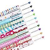 SITAKE 10 Pcs Cute Pens Kawaii Pens Fun Pens, 0.38mm colorful Writing Gel Ballpoint Pens, Korean Japanese Stationery School Supplies for Teen Girls Women Gifts (Big love)
