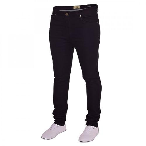 New Mens Blue Black Skinny Stretch Slim Fit Stretchable Denim Jeans Trousers