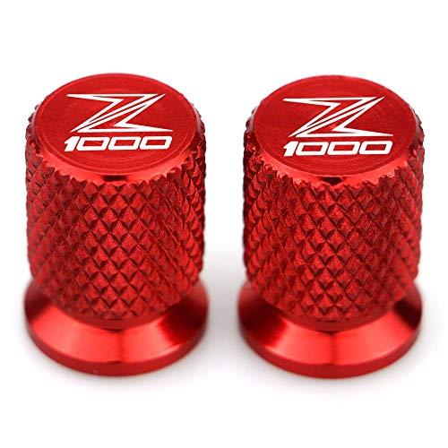 MUJUN Reserve Z1000 Motorrad-Reifen-Ventil-Reifen-Luftanschlussabdeckung Cap Airtight Abdeckungen for Kawasaki Z1000 2013 2014 2015 2016 2017 2018 2019 Stem (Color : Red)