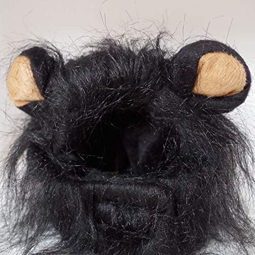 PUTTL Haustier Löwe Kostüm Mähne Kätzchen Welpe Haustier Kostüm Haustier Perücke, Bequem Flauschig @ D
