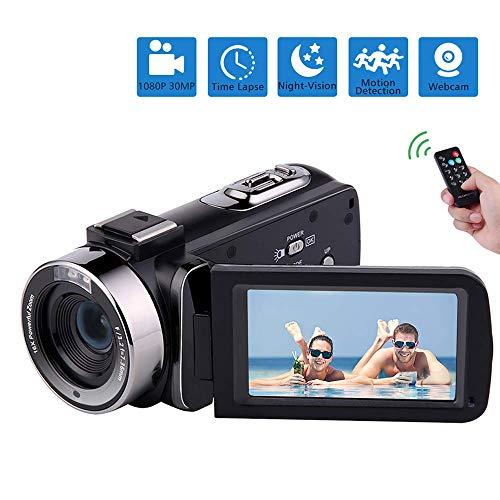 Find Discount ZJZ Video Camera Camcorder, 1080P Full HD, Camera IR Night Vision Camcorder Camera 16X...