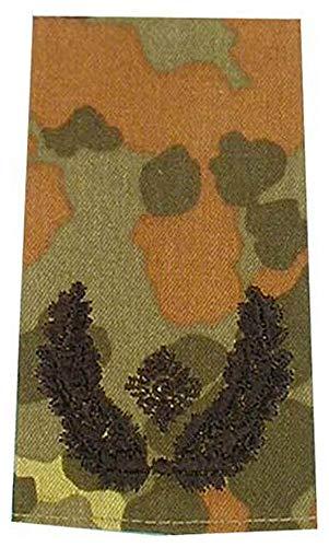 1 Paar Bundeswehr Rangabzeichen Flecktarn/Schwarz Rangschlaufe Rangschlaufen Abzeichen Schlaufe Verschiedene Dienstgrade (Major)