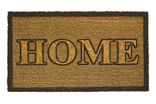 F&S deurmat Ruco Glitter 40 x 70 cm van 100% kokosvezels, natuur, 15 mm dik dessin Home Gold