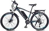 Bicicleta eléctrica de nieve, Adulto bicicleta de montaña eléctrica, 350W 26 '' bicicleta eléctrica de 36V 13Ah con extraíble de iones de litio for los adultos, 27 velocidad Shifter Batería de litio P