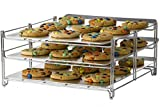 Nifty 3-in-1 Baking Rack – Nickel Chrome Plating, Cooling & Baking Rack, Multipurpose Kitchen Accessory, Folds Flat for Easy Storage, Use for Cookies, Pizzas, Baked Goods