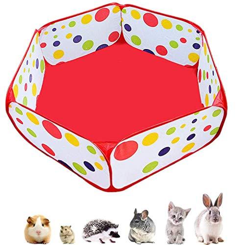 Guinea Pig - Parque de juegos portátil para animales pequeños, tienda de campaña, valla abierta, para jugar al interior o al aire libre, hámster, conejos, erizos chinchillas (bolas no incluidas)