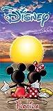 Disney Mickey Mouse Minnie Sunset Florida Beach Towel 28x58...