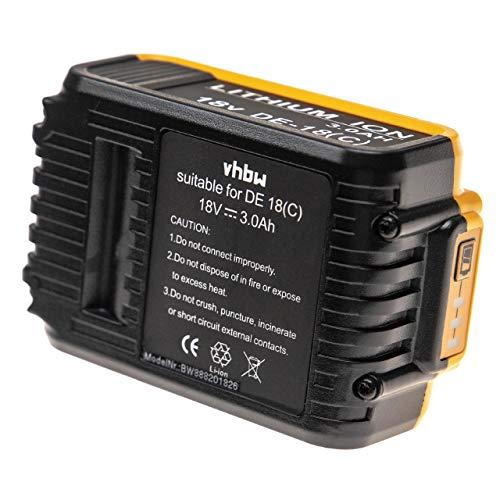 vhbw Batería reemplaza Dewalt DCB182, DCB180, DCB181, DCB181-XJ, DCB183, DCB185, DCB200, DCB201...
