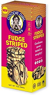 2 pack - Goodie Girl Gluten Free Fudge Striped Cookies, 7 oz each box