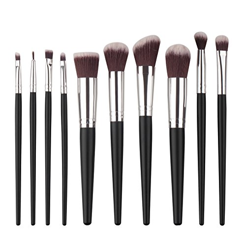ROMANTIC BEAR 10 Pcs maquillage pinceau poudre de cosmetiques Set Kit fards a paupieres Foundation