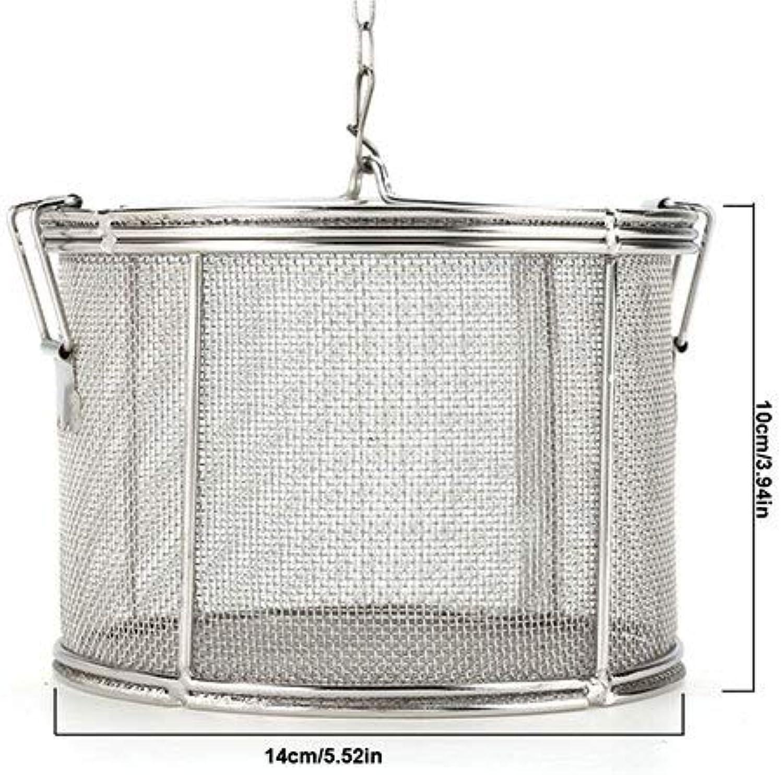 Stainless Steel Fine Mesh Strainer Gravy Soup Taste Sp Box Basket Brine Hot Pot Slag Sration Colander Strainers Basket   14x10cm