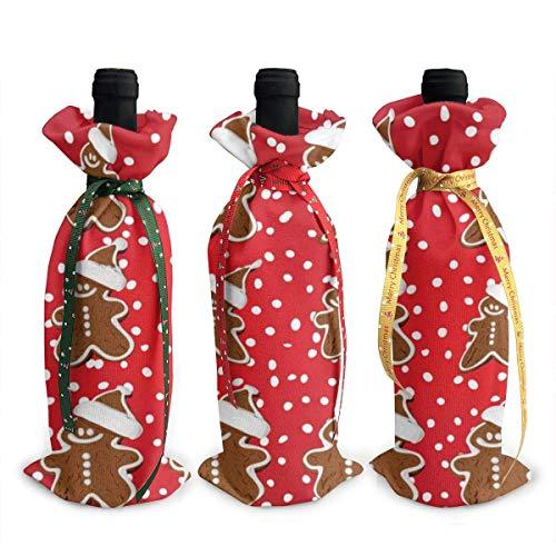 Weinflaschen-Abdeckung, weihnachtliche Lebkuchen-Dekoration, 3 Stück