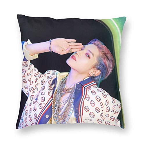 Nc-T U Taeyong - Funda de almohada cuadrada decorativa para sofá, cama, decoración del hogar, 61 x 60 cm